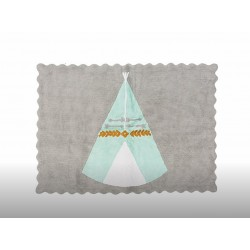 ALFOMBRA TEEPEE GRIS/MINT