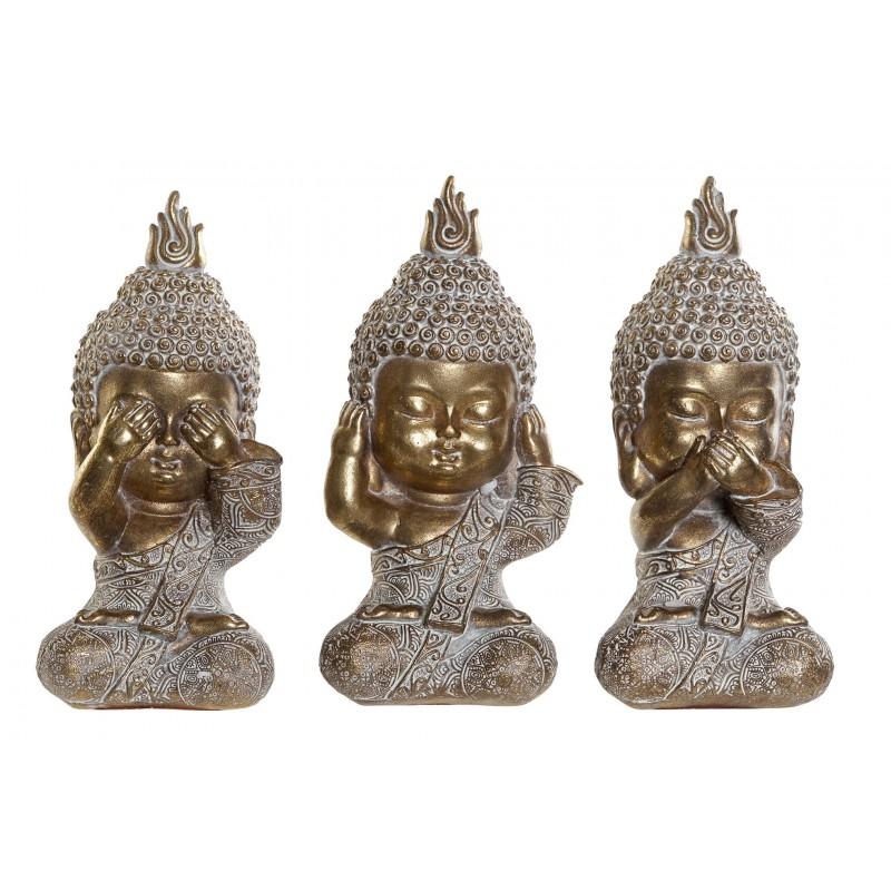 Set 3 Budas De Resina Ver Oir Y Callar